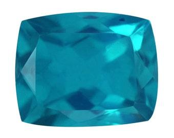 Capri Blue Quartz Triplet Loose Gemstone Cushion Cut 1A Quality 10x8mm TGW 2.65 cts.