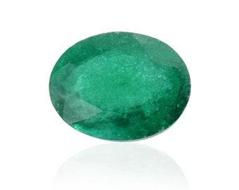 Emerald Green Quartz Loose Gemstone Oval Cut 1A Quality 10x8mm TGW 1.85 cts.
