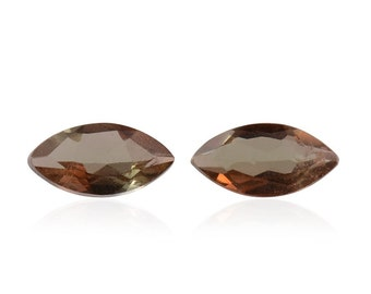 Andalusite Loose Gemstones Set of 2 Marquise Cut 1A Quality 5x2.5mm TGW 0.25 cts.