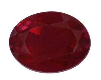 Blazing Red Triplet Quartz Loose Gemstone Oval Cut 1A Quality 9x7mm TGW 2.00 cts.