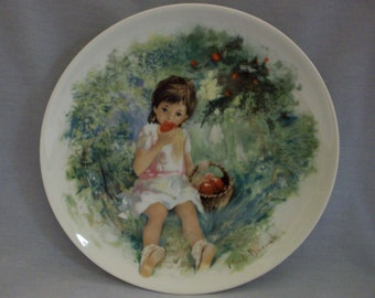 Limoges Collector's Plate Marie-Ange by Paul Durand, Limoges, Paul Durand, Marie-Ange, Plates, Collector Plates, Children Plates