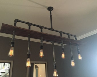 Industrial Pipe Chandelier. The Bradford