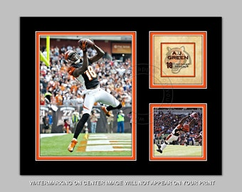 A.J. GREEN - Cincinnati Bengals - Digital Photo Collage - available in sizes 8x10 11x14 or 16x20 - NFL Football Picture Art Gift