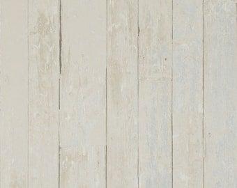 Vintage Faux Wood Wallpaper