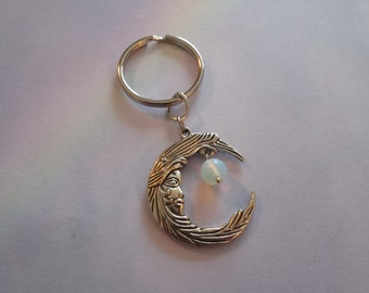 Tibetan Silver Moon Goddess Key chain,Key Holder