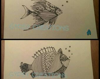 Fish Doodle/ Zentangle Art