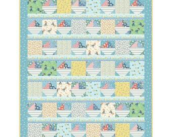 "Ducks and Boats Quilt Kit by Rachel Shelburne for Maywood Studio - Baby/Child Quilt Kit 54"" x 72"""