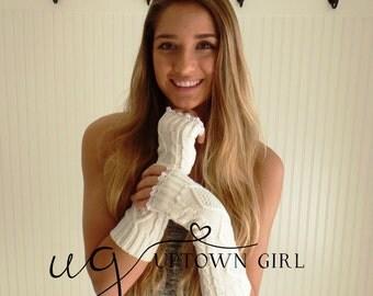 Sale Womens Fingerless Gloves, Girls Fingerless Gloves,Womens Knitted Gloves, Womens Winter Gloves, Fingerless Gloves,Womens Knit Glove Long