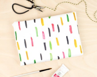 Dash Print Gift Wrap, Wrapping Paper, Minimalist, Patterned Gift Wrap, Birthday Wrapping, new baby gift, scandi print, colourful wrapping