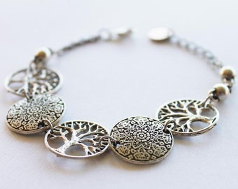 Bracelet Poetic Nature silvered