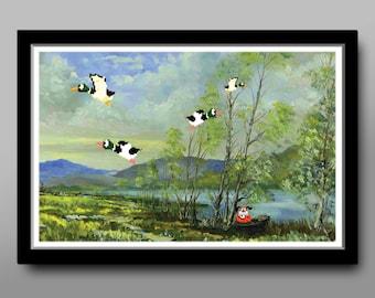 Duck Hunt Video Game Inspired Poster - Parody Art #1 - Print 299 - Home Decor