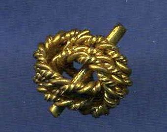 Antique Button SALE Gilt Brass Interlaced Knot Pattern