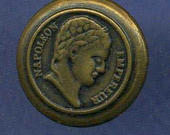 Antique Button, Napoleon Head