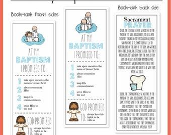 LDS Baptism Bookmarks