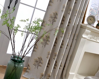 Tree Curtains   Etsy