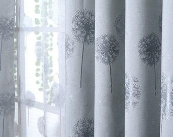 Dandelion Curtain Etsy