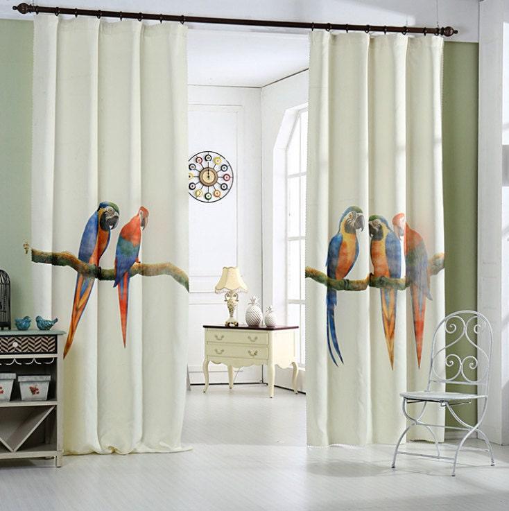 Parrot Window Curtain Panel 51 Or 74w Custom