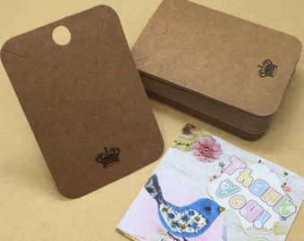 50Pcs 350gsm Necklaces Display Cards, Bracelets Display Cardstock, Jewelry Display Card
