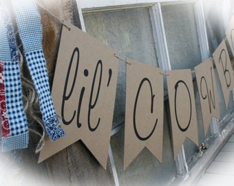 Large Banner- Cowboy Baby Shower