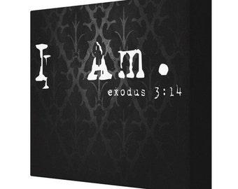 CANVAS PRINT I Am. Exodus 3:14 Bible Verse Canvas Print