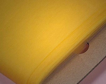 Yellow Tulle Bolt 54in x 120ft  (40 yards)