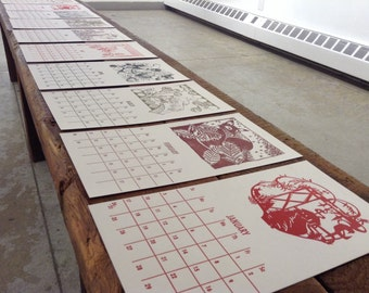 SALE 2016 Letterpress Calendar