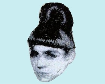 GRIMES Embroidered Portrait Pin