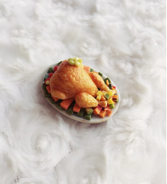 Miniature Roasted Chicken, Turkey Chicken Miniature ,Miniature food,Doll house&miniature,Miniature Collection,Doll House decoration,tiny