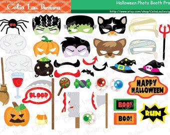 Halloween Photo Booth Props, Halloween Props, Halloween Printable Photo Booth Props, Halloween Party / DIY Printable Instant download