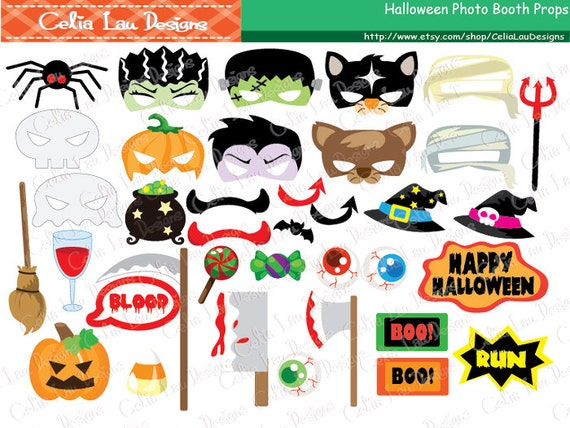 halloween photo booth props halloween props halloween printable photo booth props halloween party diy printable instant download - Halloween Photography Props