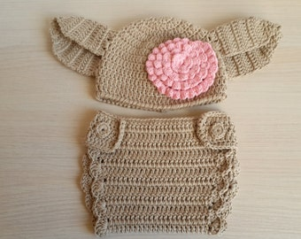 Dobby The House Elf Hat And Diaper Cover From Harry Potter For Girls - for Halloween / Cosplay / Baby Shower Gift