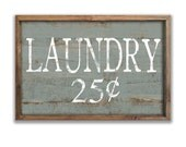 """Wooden Laundry sign 19.25""""x13.25""""x2"""" framed out in wood Laundry decor laundry room signs mudroom signs mudroom decor blue gray laundry decor"""