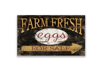 """Farm fresh eggs for sale wooden block sign 10""""x5""""x2"""" farm sign farmhouse sign farm decor farmhouse decor egg signs handmade signs"""