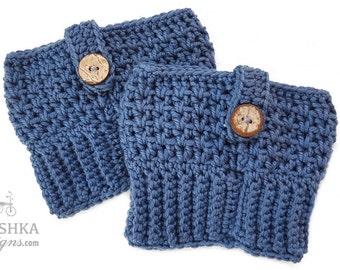 Merino wool crochet boot cuffs, calf warmers, merino wool cuff, warm boot cuff, winter fashion, made to order
