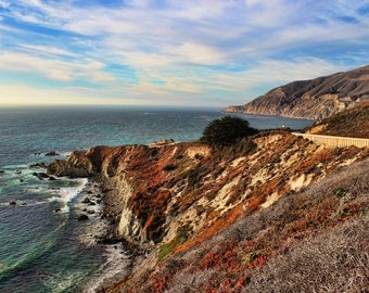A Scenic Drive, Mountains, Ocean, Pacific Coast Highway, Clouds, Big Sur, California