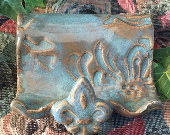 Stoneware Pottery Business Card Holder
