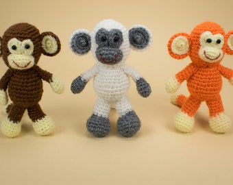 Crochet Monkey, Amigurumi Monkey, Stuffed Monkey, Soft Toy Monkey, Plush Monkey, Crochet Animal Toy