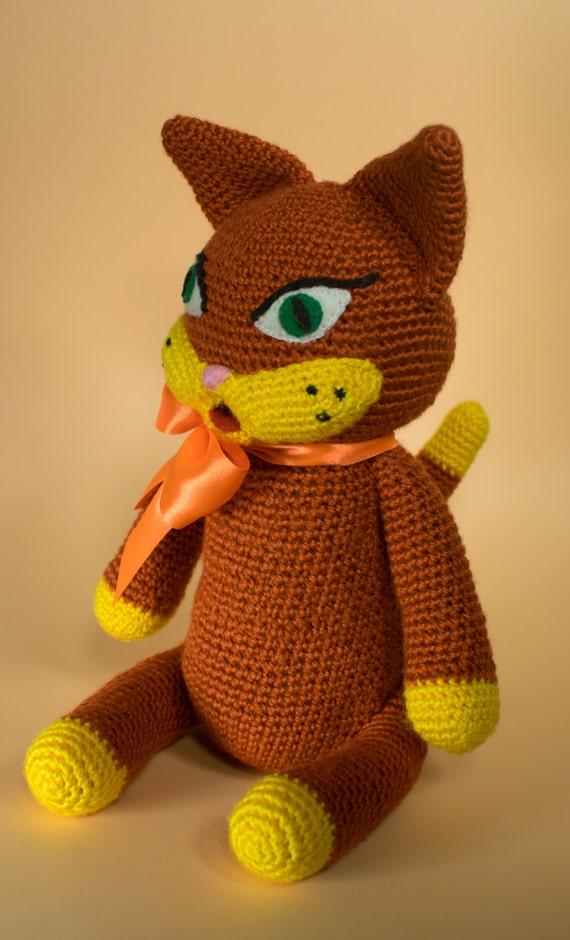 Chrochet cat Handmade cat Amigurumi cat Amigurumi crochet