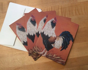 Rooster Notecards