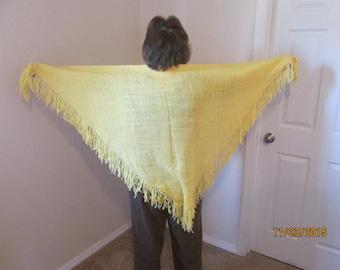 yellow 6' woven shawl