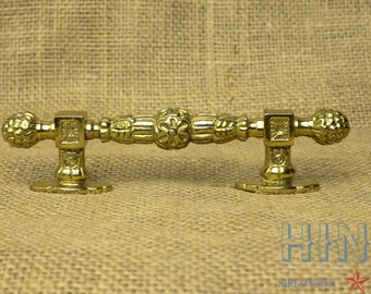 Vintage Solid Brass Cabinet, Drawer, Door Handle Item511b