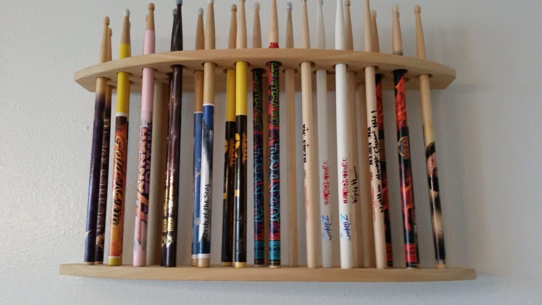 drumstick display drum stick holder solid natural cedar. Black Bedroom Furniture Sets. Home Design Ideas