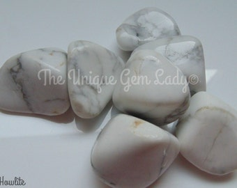 Howlite Tumblestone Tumble Stone Natural Polished Stone ~ Gemstone Crystal Healing ~ Gift