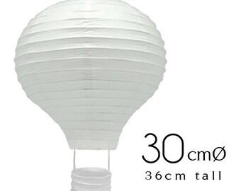 15 White Hot Air Balloon Paper Lanterns (12inch / 30cm) - DIY Wedding, Birthday, Party, Baby Shower, Nursery Decoration, Handicraft DIY
