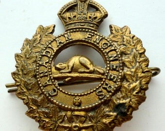 WWI Canadian Engineers Hat Badge