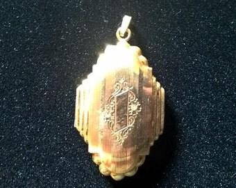 Sale! Originally 65.00! Vintage Gold Filled Locket Dunn Bros.