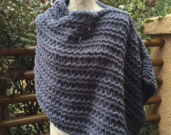 Poncho - a loom knit pattern