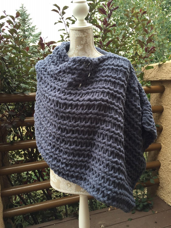 Loom Knitting Poncho : Poncho a loom knit pattern
