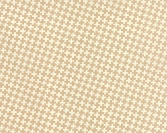 Farmhouse Fabric by the Yard, Fig Tree Fabric, Moda Fabrics, Tan Check Criss Cross, Tan and White Quilt Fabric, Tan Check Fabric, 20256 15