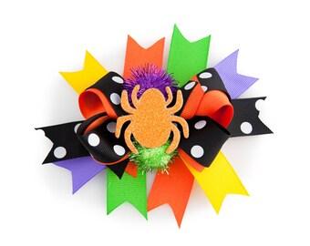 Halloween Spider Hair Clip for Kids, Halloween Hair Costume, Halloween Hair Bow